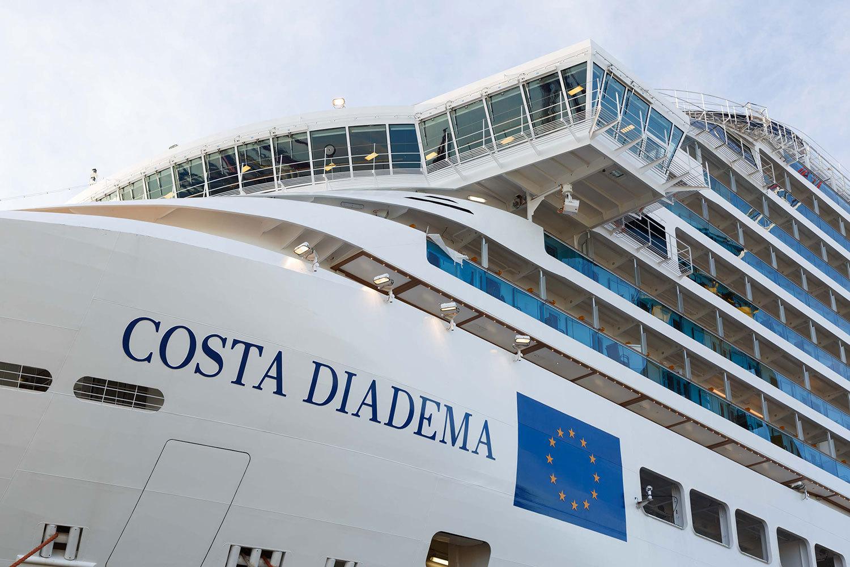 Fartyget är byggt i Italien.