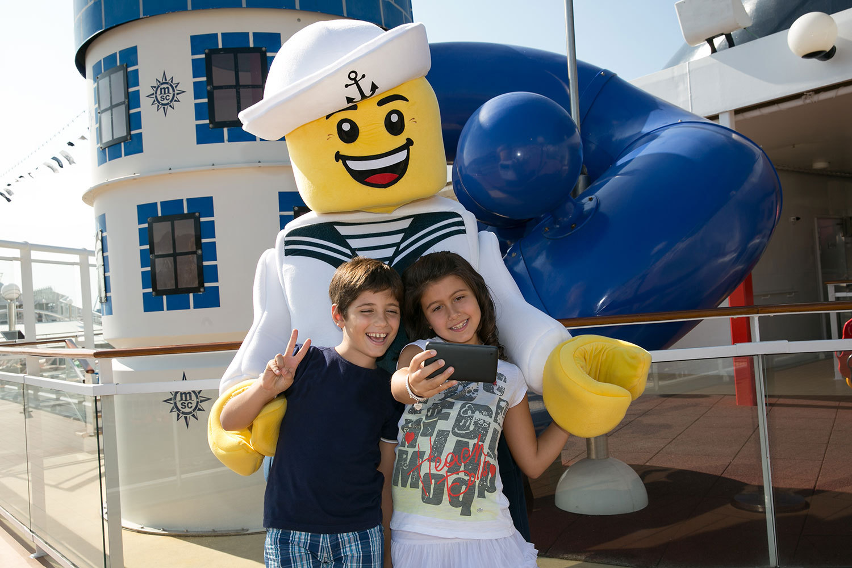 Lego Sailor, ny besättningsmedlem på MSC:s fartyg. Foto: MSC Cruises