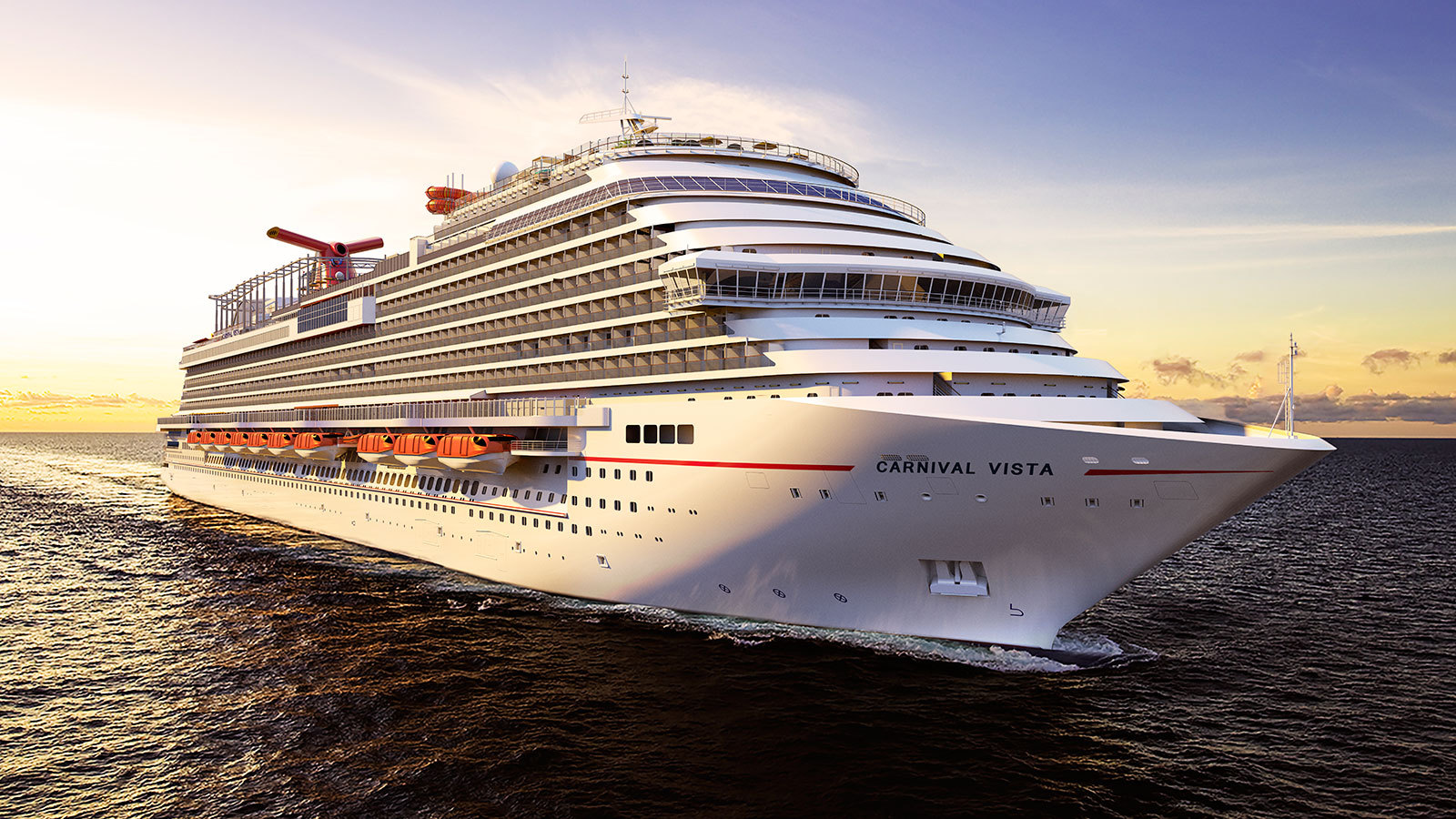Carnival Vista blir 321,5 meter lång. Foto: Carnival Cruises