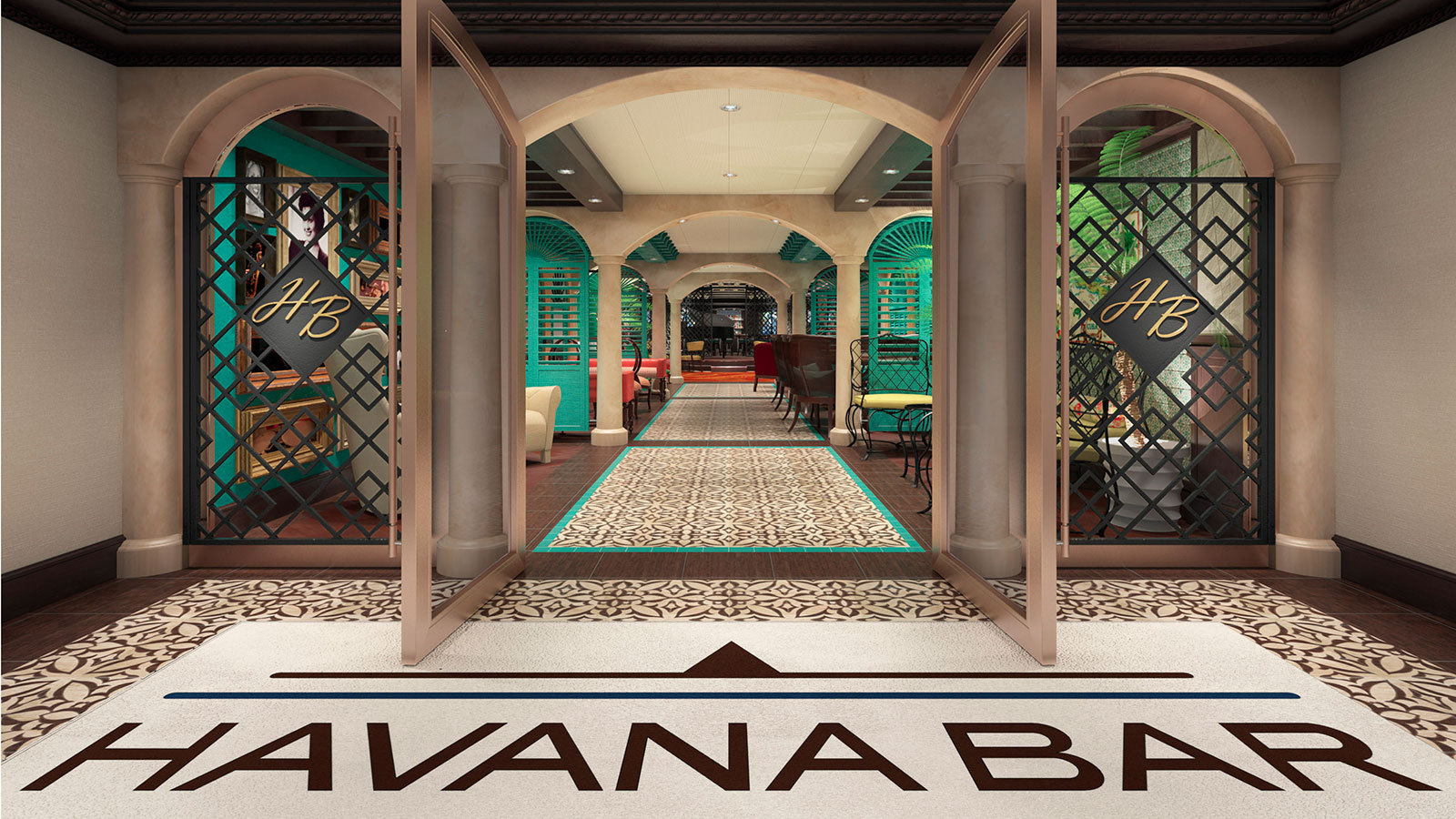 I aktern ligger latinobaren Havana. Foto: Carnival Cruises