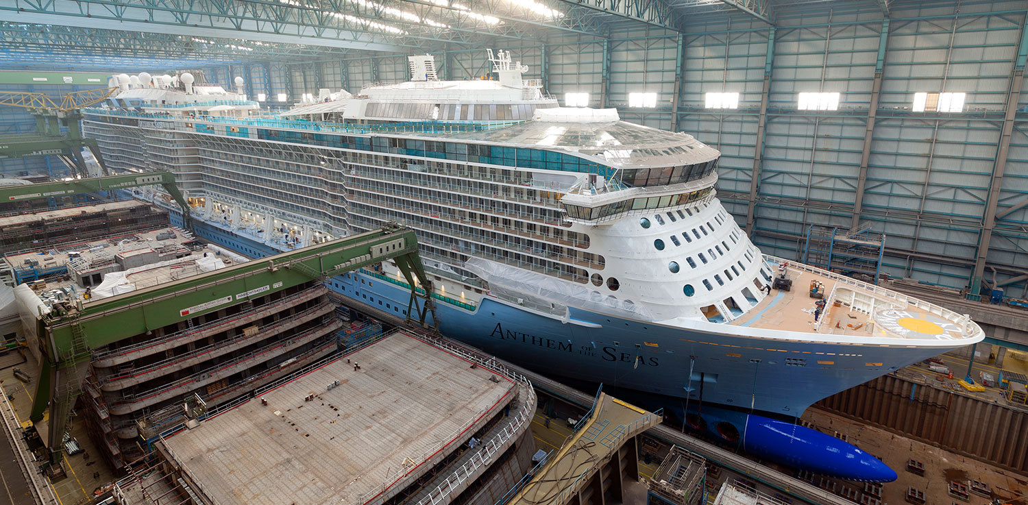 Anthem of the Seas sjösätts. Foto: Meyer Werft