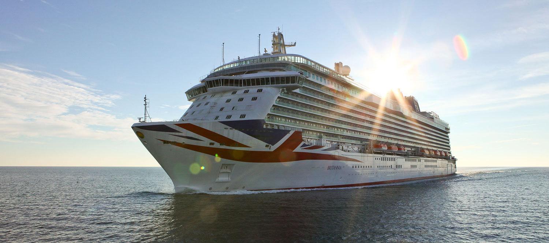 Britannia är 330 meter lång. Foto: P&O Cruises