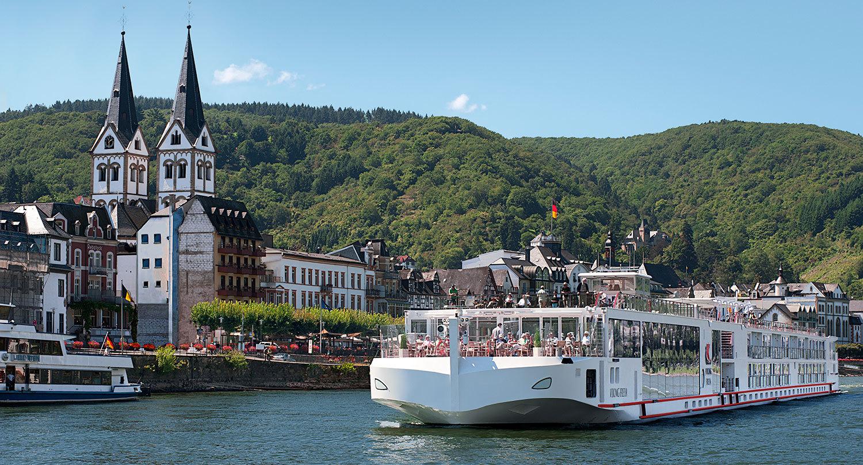 Vikings flodkryssare Freya är av Longships-modell. Foto: Viking River Cruises
