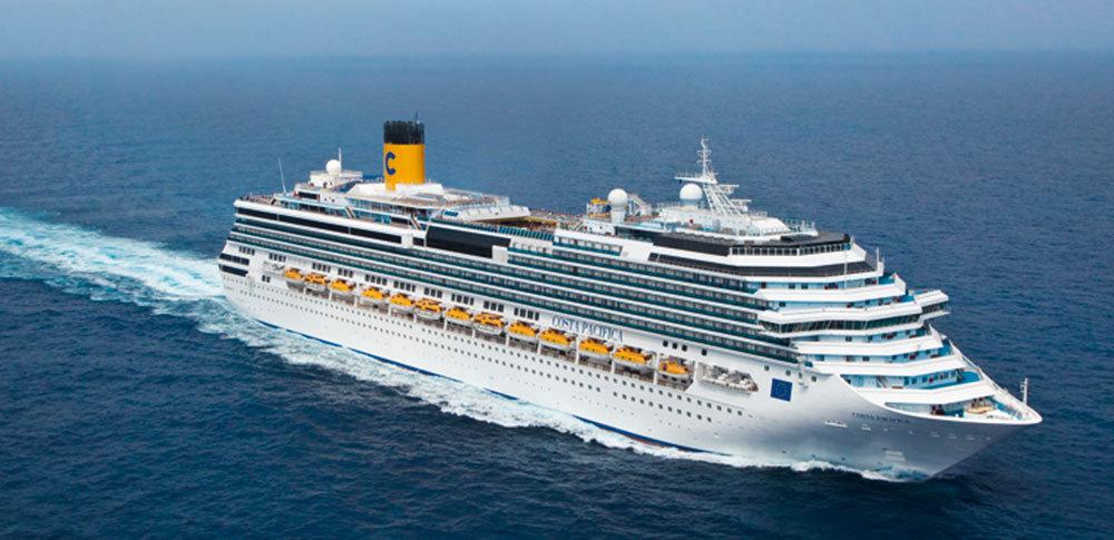 Costa Pacifica, först till Stockholm i år. Foto: Costa Cruises