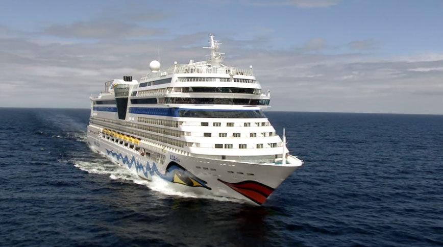 Fartyget AIDAblu. Foto: AIDA