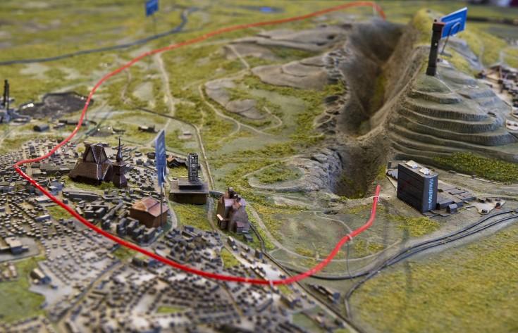 Kiruna innanför den röda linjen ska flyttas.