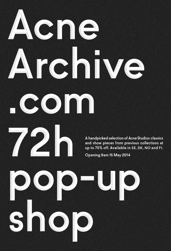 Acne_Archive-Flyer1