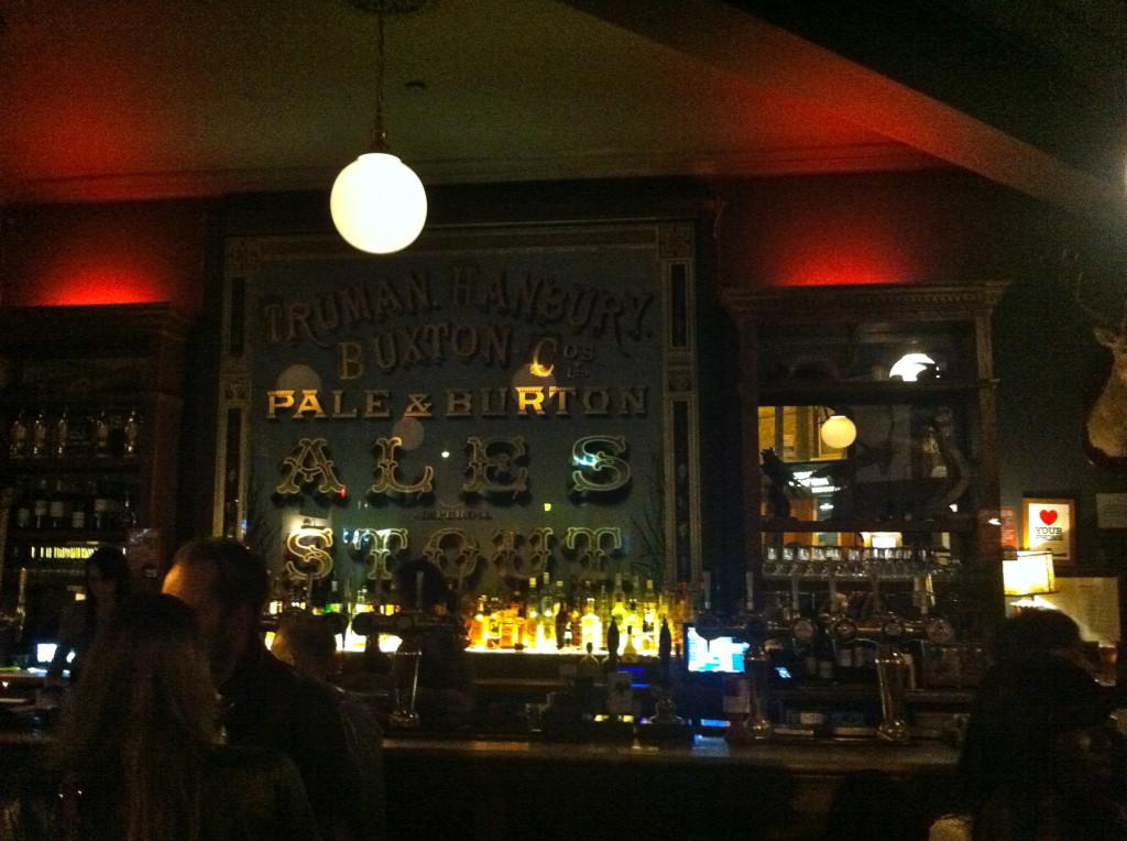 The Old Blue Lasts gamla bar.