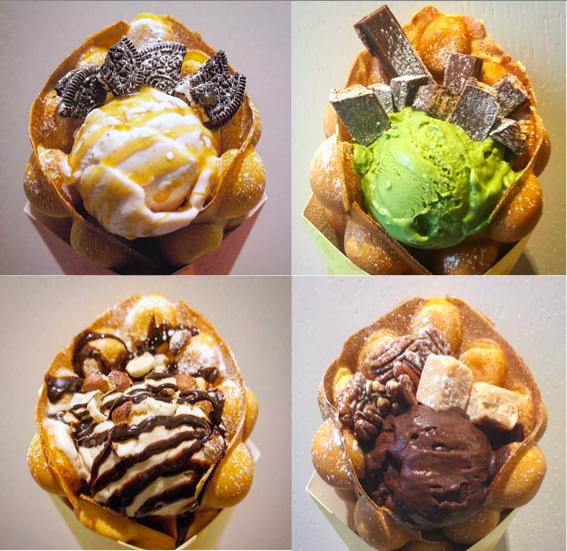 Vilken är du mest sugen på? Foto: Bubble Wrap Waffle.
