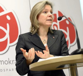Magdalena Andersson (S). Foto: Björn Lindahl