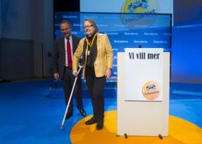 Jan Björklund och Marit Paulsen på Folkpartiets landsmöte i Västerås i november. Foto: JONAS BILBERG