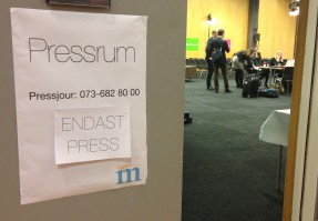 Pressrummet på Moderaternas Sverigemöte i Göteborg.