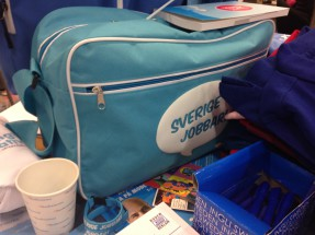 """Sverige jobbar""-väska."