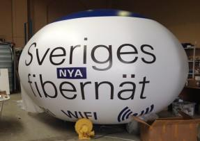 Så här ser de ut, wifiballongerna. Foto: Pressbild från IP -Only.