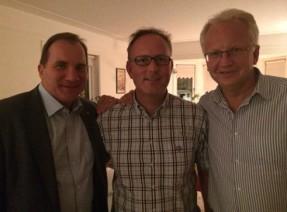 Smider planer? Stefan Löfven, Johan Persson och Pär Nuder.
