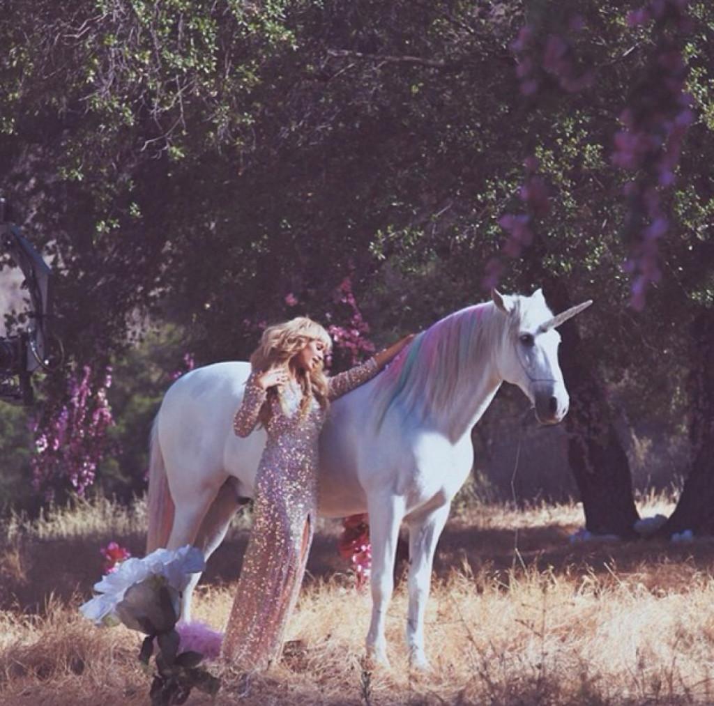 Paris Hilton på enhörningstur