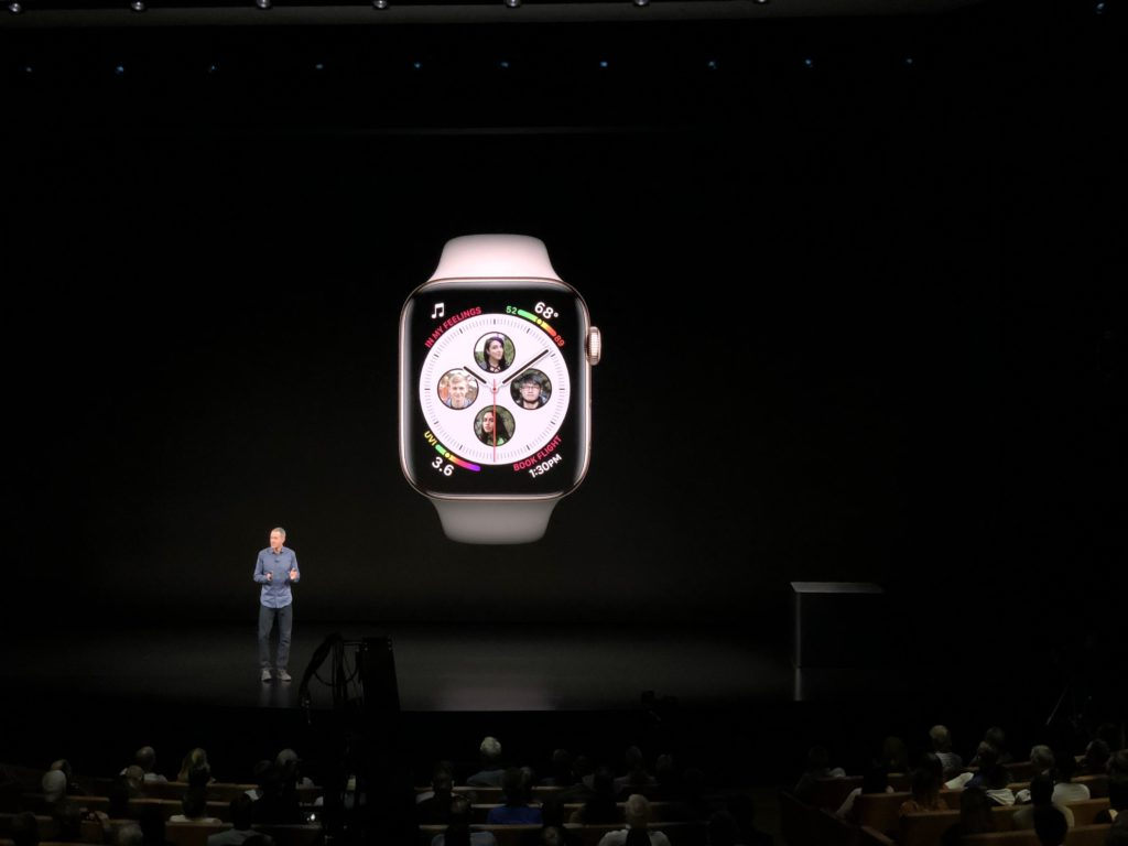Apples Jeff Williams vid lansering av nya Apple Watch 4 i september. Foto: Peter Pettersson