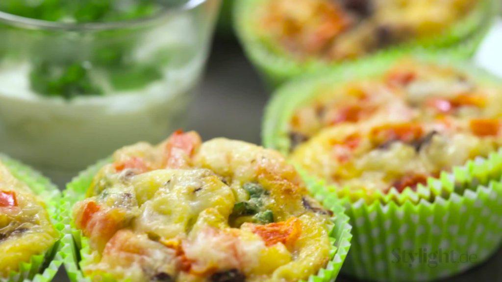 Omelettmuffins! Snabbt, enkelt, nyttigt och gott. Bild lånad av fem.com