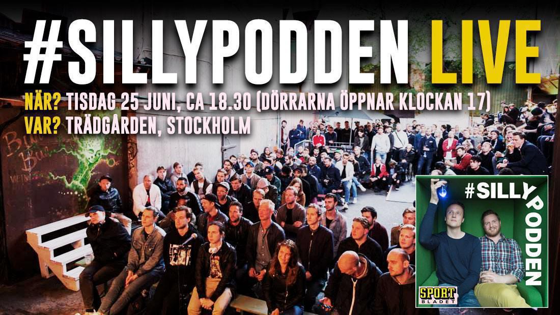 Succén är tillbaka: Sillypodden Live är tillbaka på Trädgården i Stockholm