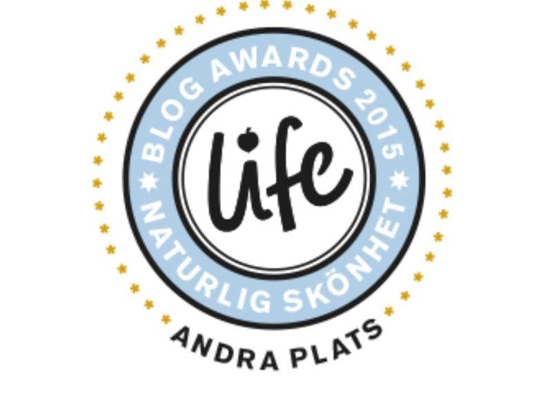 Skönhetsredaktörerna.se valdes 2015 till bästa naturliga skönhetsblogg av Lifes läsare