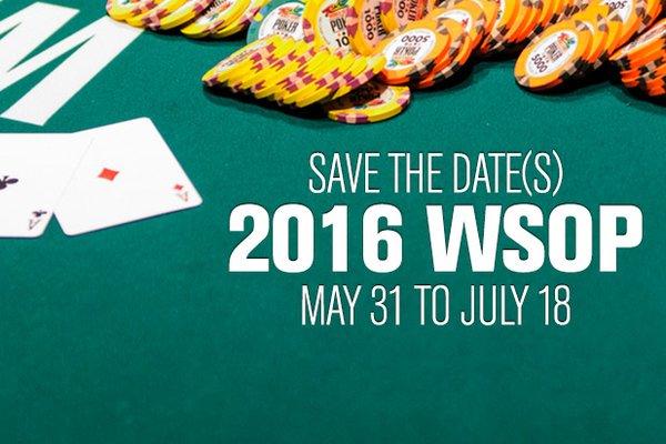 WSOP 2016 DATUM