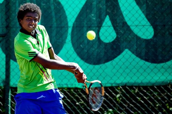Svenske Elias Ymer har vunnit sin första ATP-poäng. FOTO: BILDBYRÅN