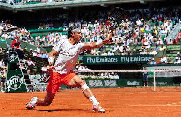 Rafael Nadal vann en episk semifinal mot rivalen Novak Djokovic. FOTO: BILDBYRÅN