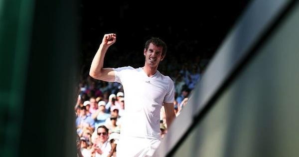 Andy Murray svarade för en makalös prestation i finalen. FOTO: GETTY IMAGES