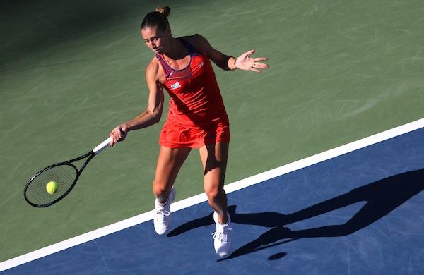 Flavia Pennetta nådde sin första Grand Slam-semifinal i karriären – vid 31 års ålder. FOTO: BILDBYRÅN