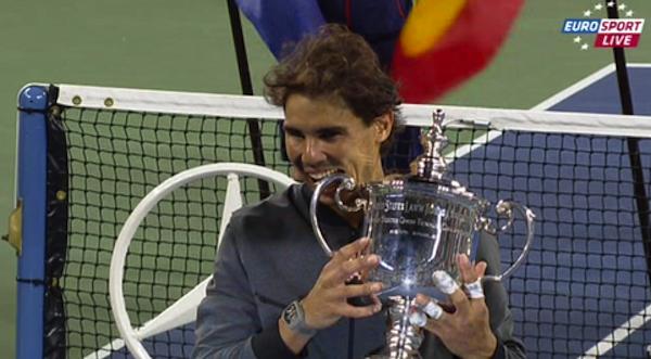 Rafael Nadal bärgade sin 13:e Grand Slam-buckla i karriären efter finalseger över Novak Djokovic i US Open.