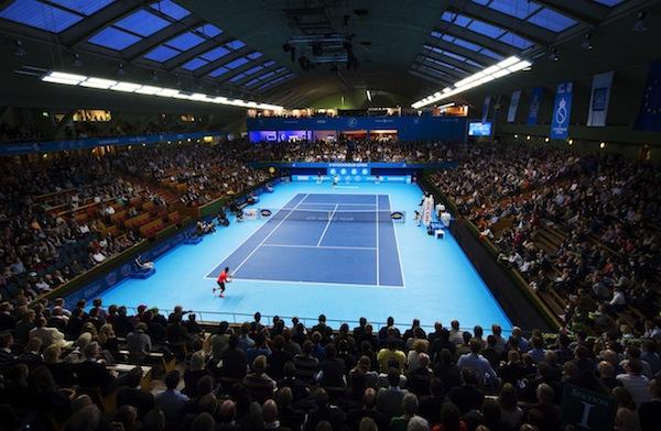 Kungliga Tennishallen under Stockholm Open 2012 – här matchen mellan Tomás Berdych och Nicolás Almagro. FOTO: BILDBYRÅN