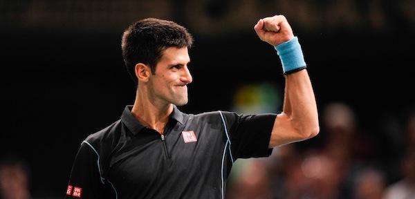 Novak Djokovic kliver in i slutspelet med 17 raka segrar sedan US Open. FOTO: BILDBYRÅN