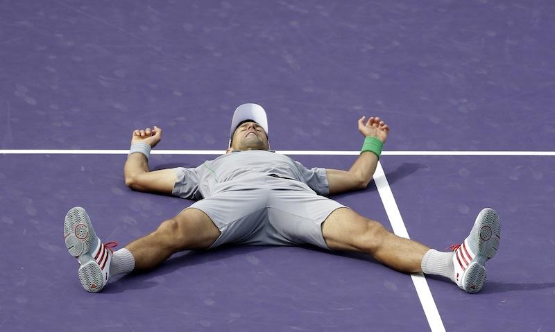 Novak Djokovic var överlägsen i finalen. FOTO: AP