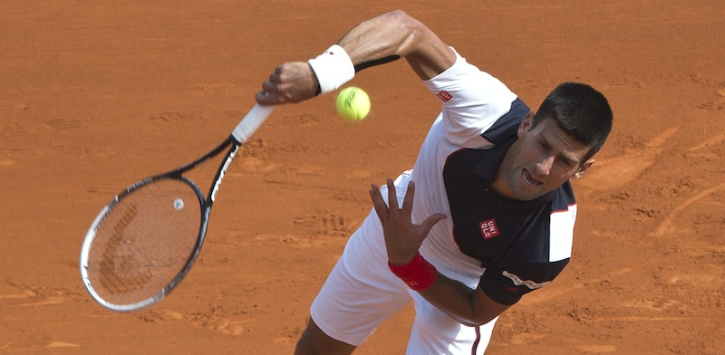 Novak Djokovic pulvriserade Albert Montanes i Monte Carlo. FOTO: AP