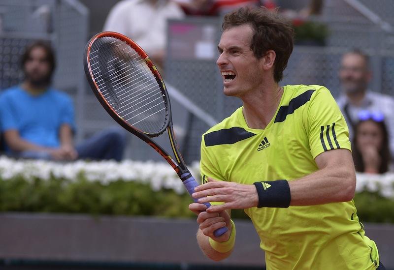 Andy Murray fick bita i gruset i Madrid. FOTO: AP