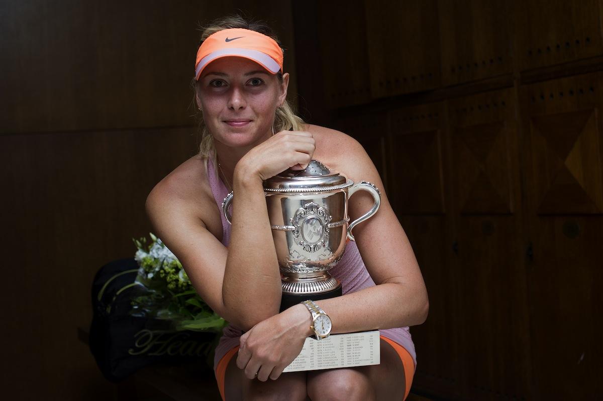 Maria Sjarapova vann sin andra titel i Franska öppna. FOTO: AP