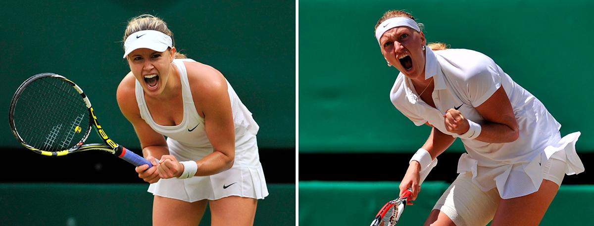 20-åriga Eugenie Bouchard ställs mot 2011 års Wimbledon-vinnare Petra Kvitová i finalen. FOTO: AP