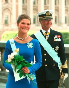 kronprinsessan victoria 18 års tal Kungen 40 år på tronen kronprinsessan victoria 18 års tal