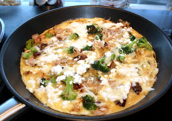omelett med keso