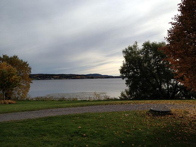 Vacker miljö runt kunten på Scandic Hotell i Bollnäs.