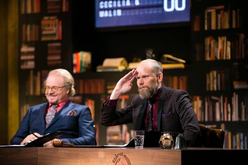 Luuks nya skägg stör På Spåret. Foto: ANDERS DEROS