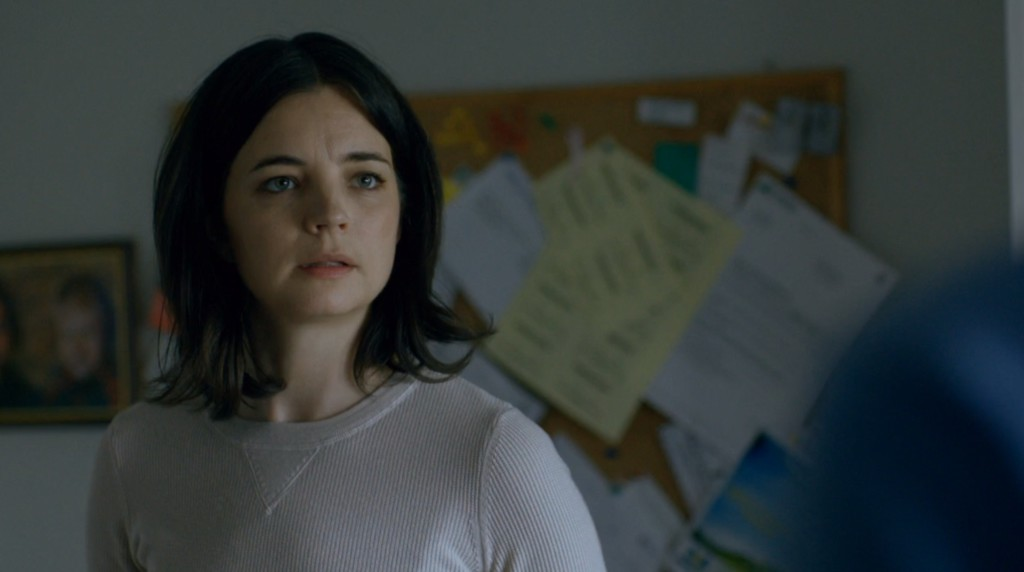 Louise Peterhoff som Elin Hammar i Blå ögon. FOTO: SVT