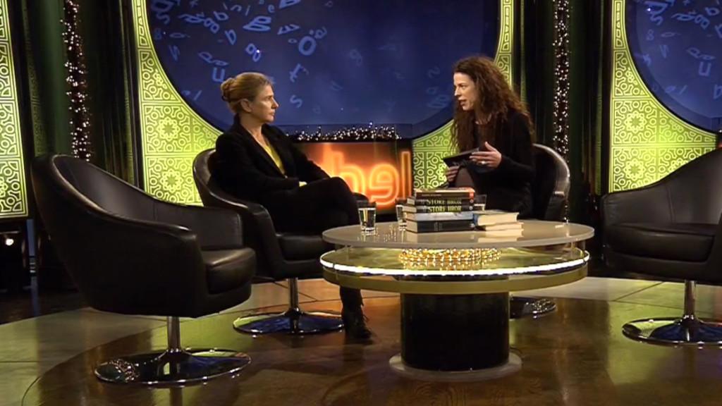 """Lionel Shriver med Jessika Gedin i """"Babel"""". FOTO: SVT"""