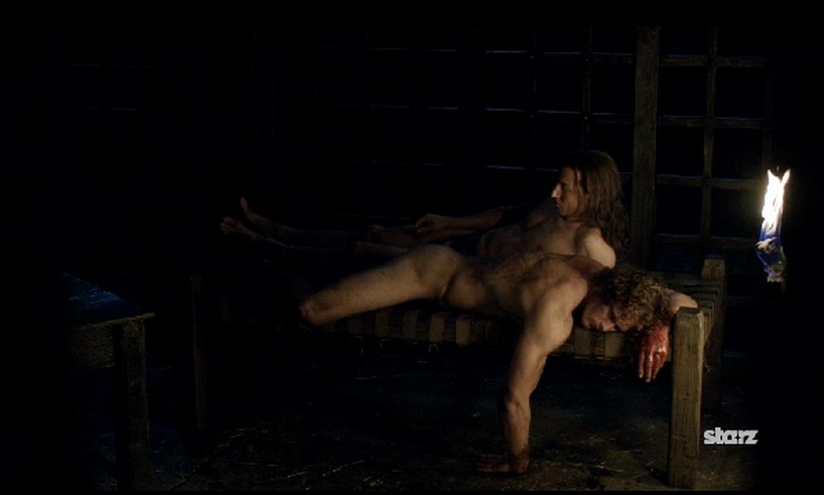 """Jamie och Black Jack Randall i """"Outlander""""."""