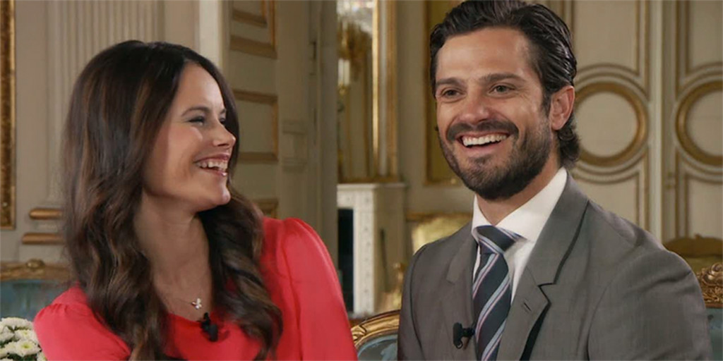 Sofia och Carl Philip. FOTO: TV4