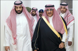 Vice kronprins Mohammed bin Salman och kung Salman.