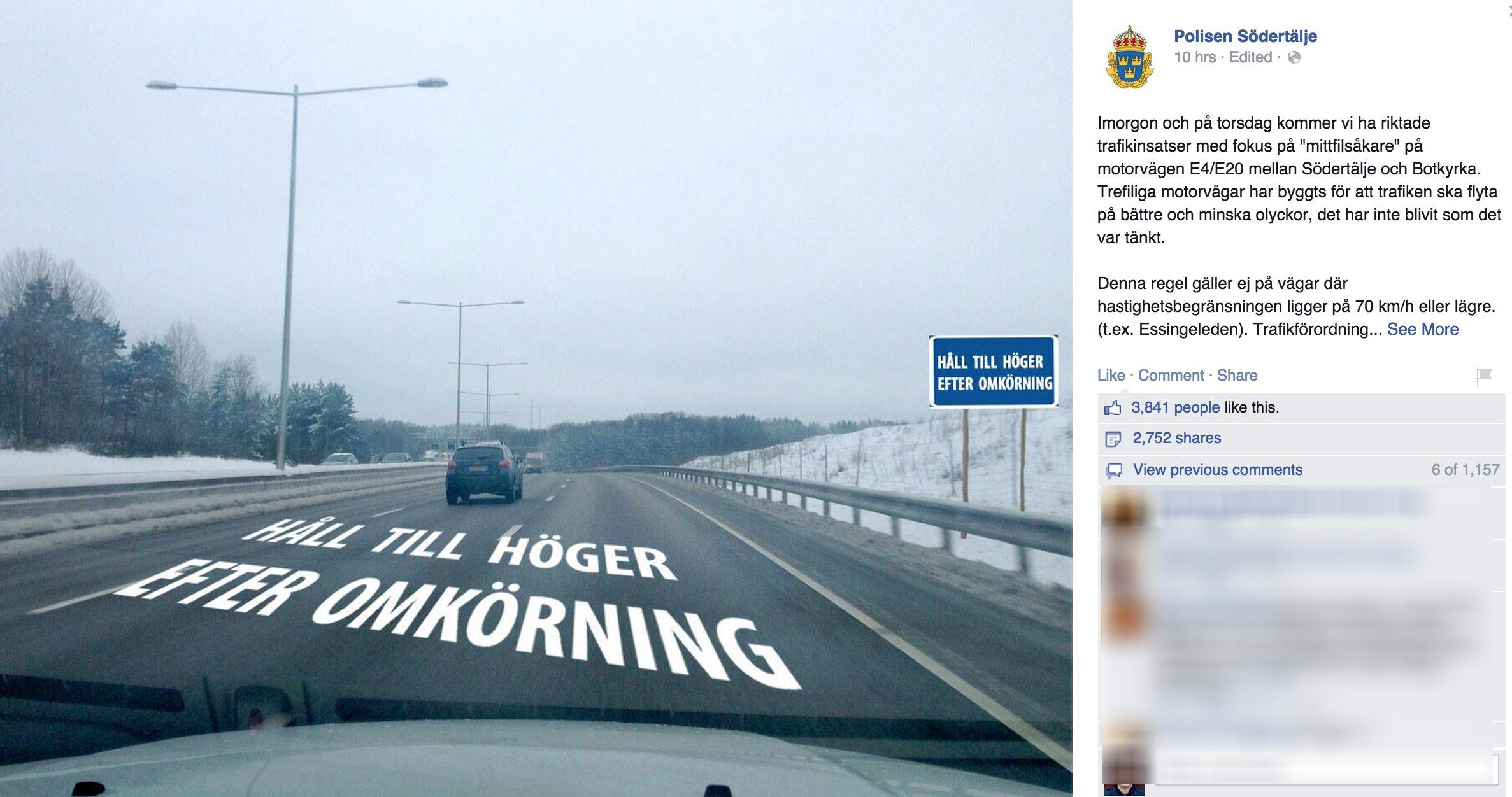 Foto: Polisen Södertälje / Facebook.